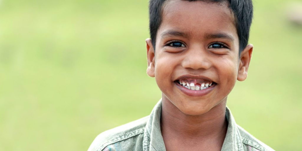 young East Indian boy smiling